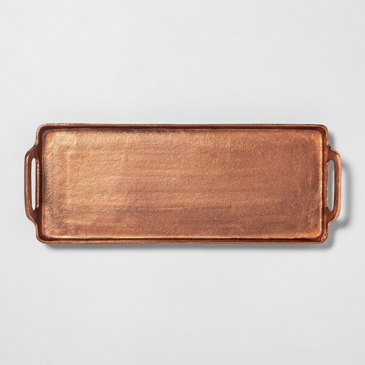 Rectangle Antique Finish Copper Tray
