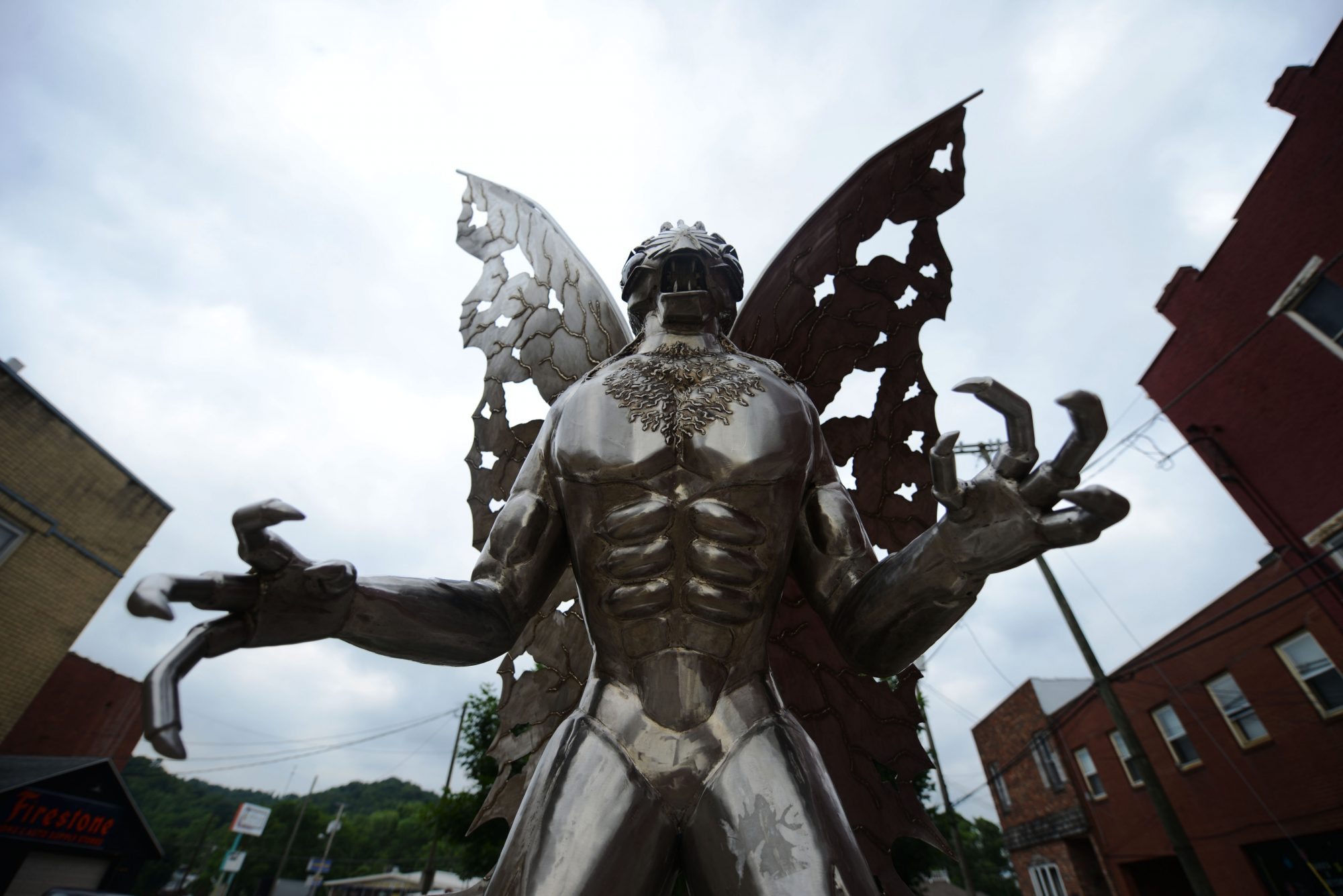 "POINT PLEASANT, WV- JUNE 07: ""The Legend of the Mothman"" statue"
