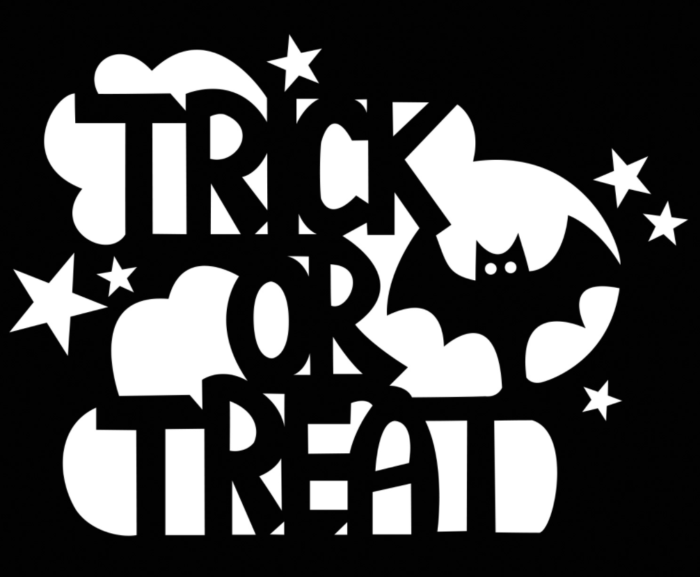 Trick or Treat Pumpkin Carving Stencil