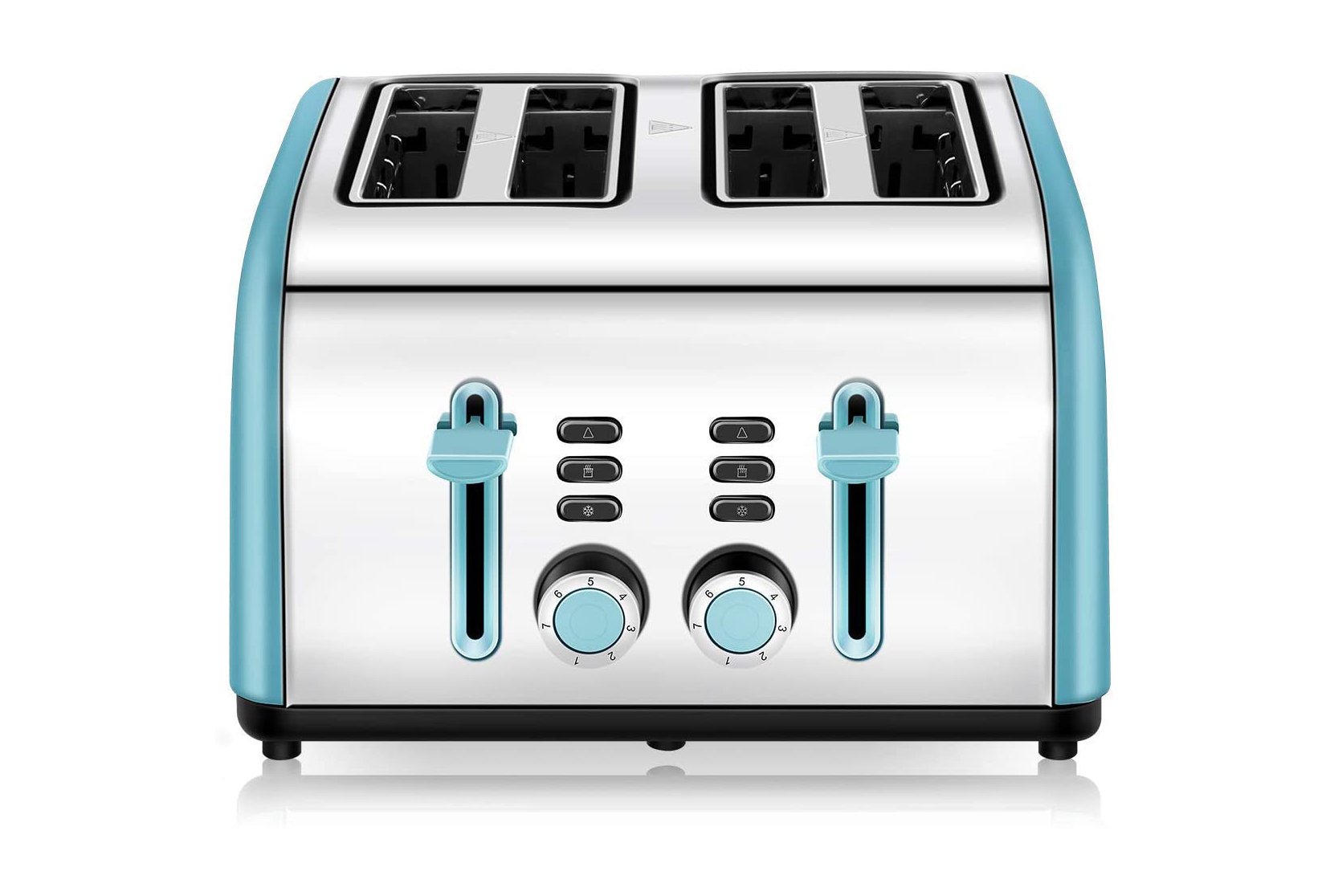 CUSINAID 4 Wide Slots Stainless Steel Toaster
