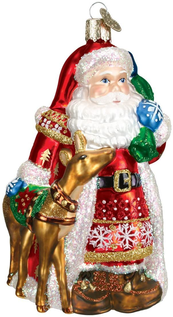 Nothing says Christmas quite like a happy jolly Santa, and this vintage-inspired ornament would make a great collector's item.                             Buy it: Old World Christmas Santa Glass Blown Ornament, $21; amazon.com