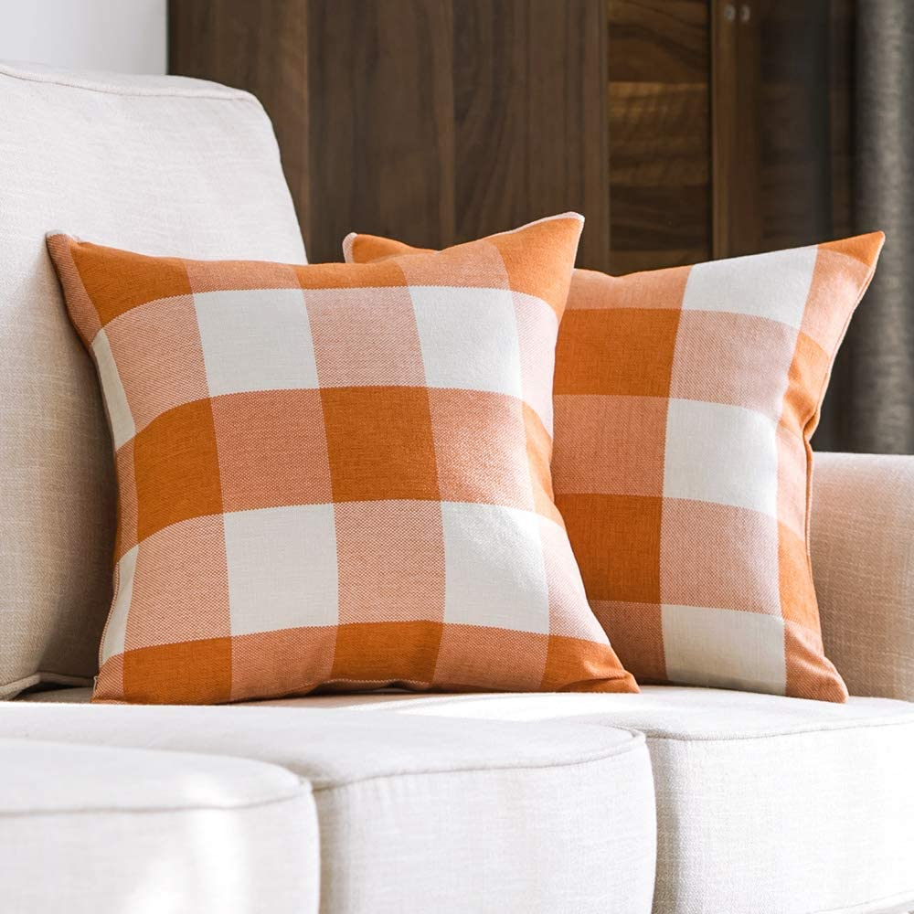 BUY IT: from $12; amazon.com These cozy pillows are pretty in plaid and machine washable.