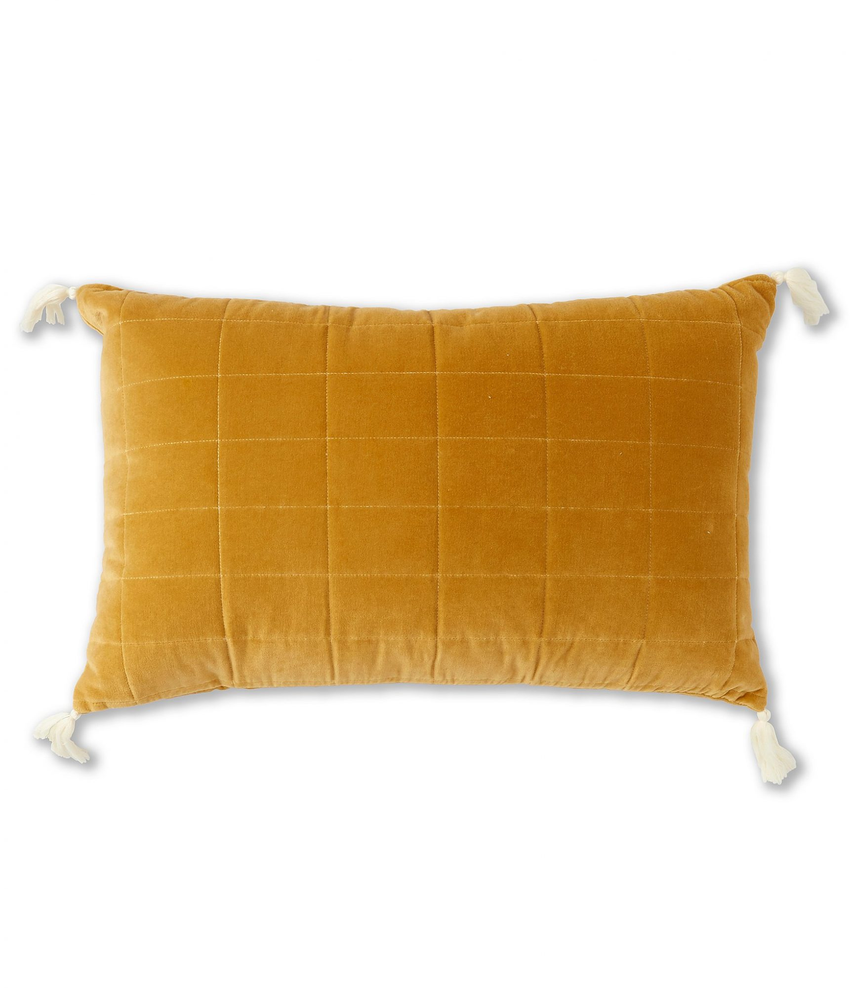 BUY IT: $39; dillards.com If you're not crazy about bold colors and patterns, warm up your space for fall with a gold velvet pillow.