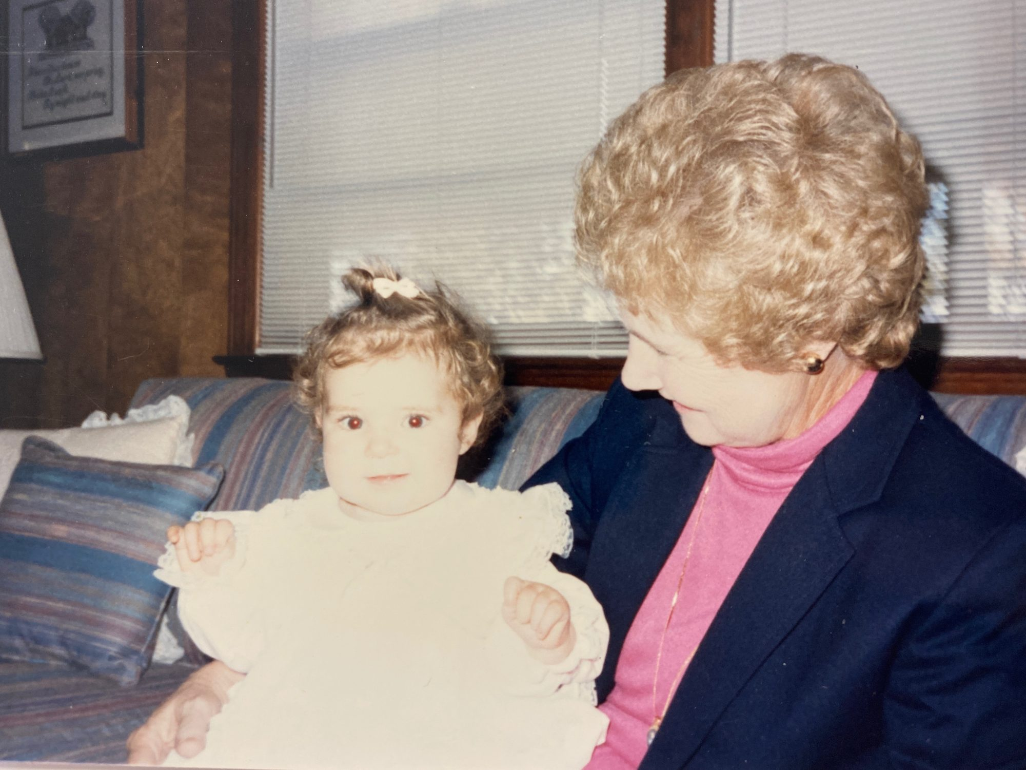Sarah Doggett Evenson and her grandmother