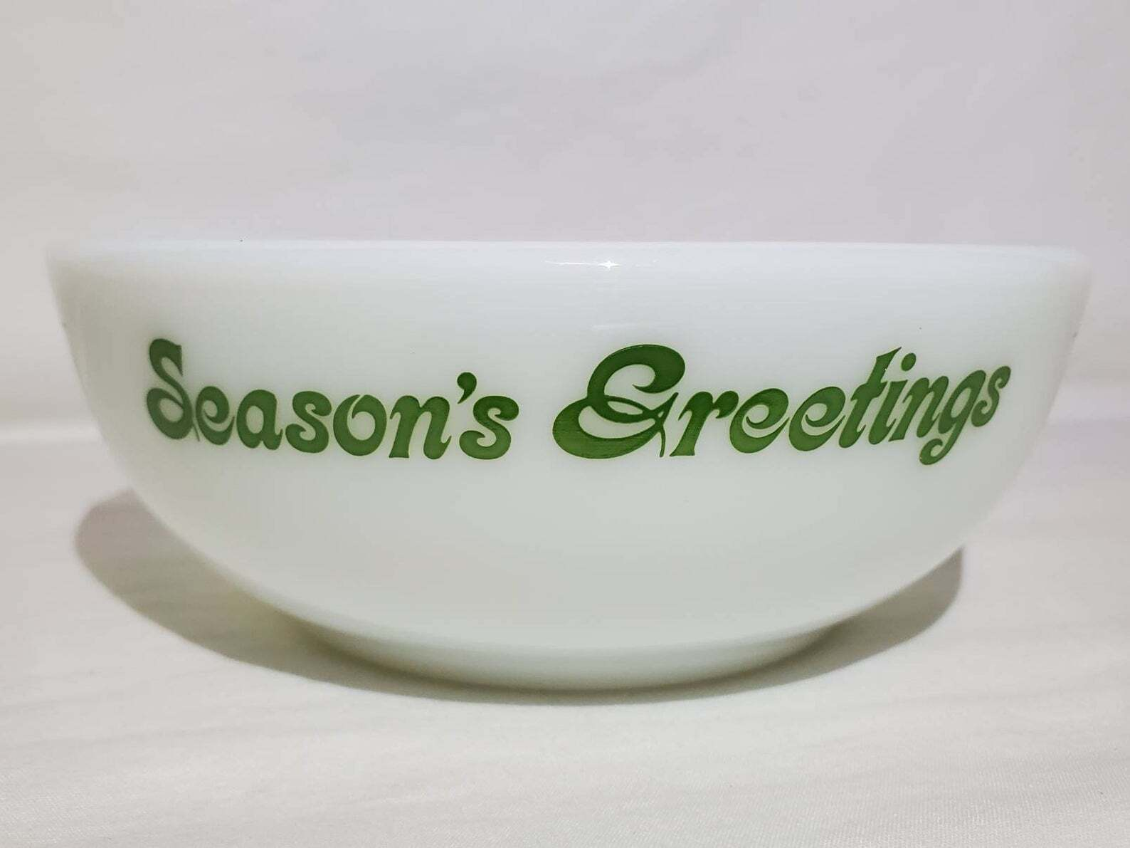 Season's Greetings Pyrex Bowl