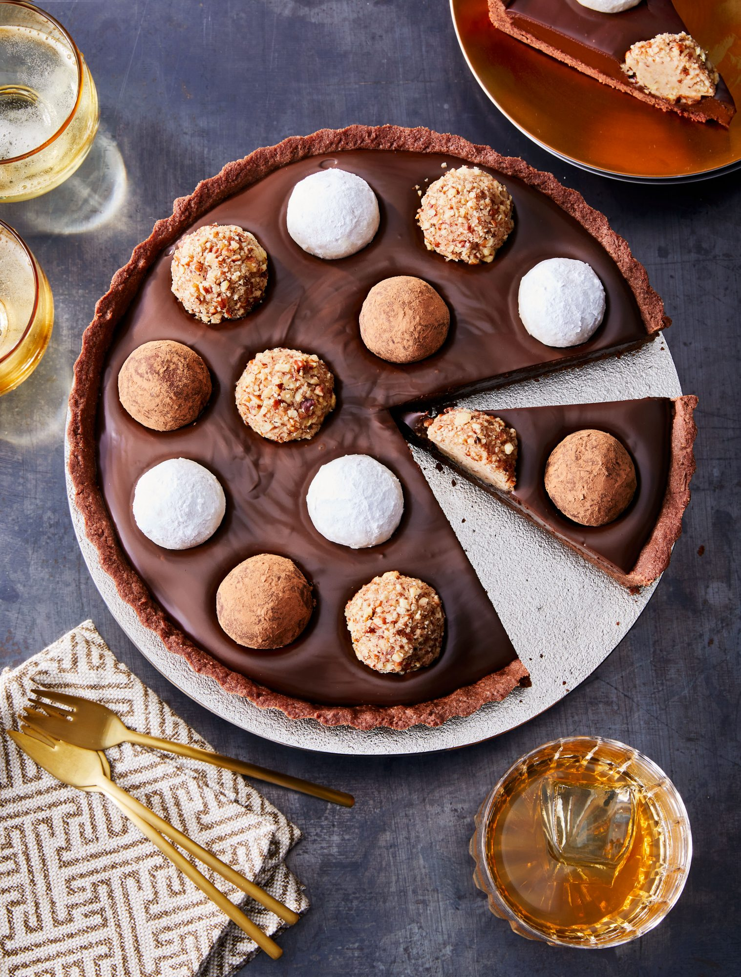 Bourbon Ball Tart