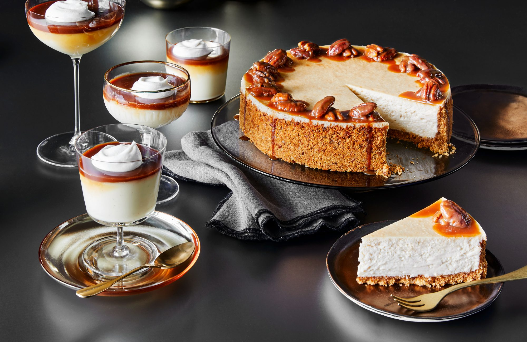 Bourbon-Praline Cheesecake