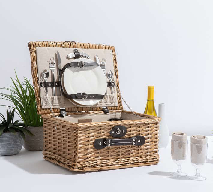 Classic Woven Picnic Basket
