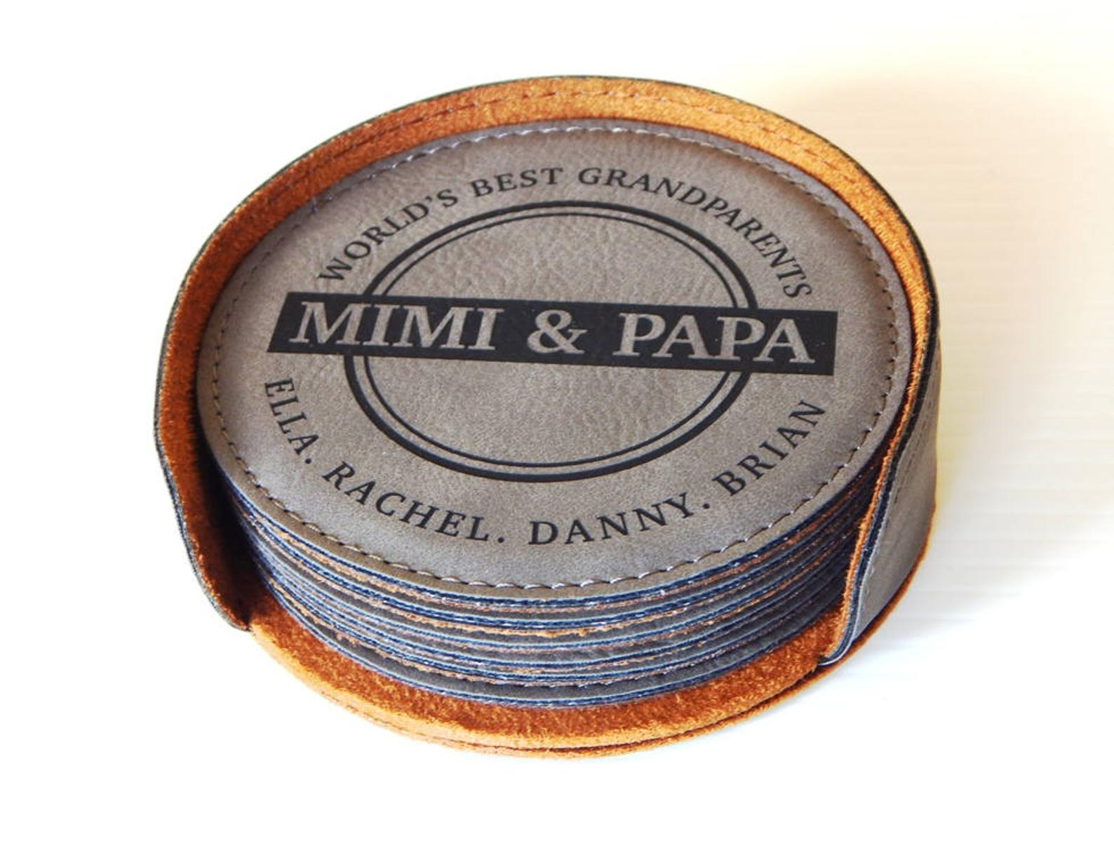 Personalized Coasters for Grandparents