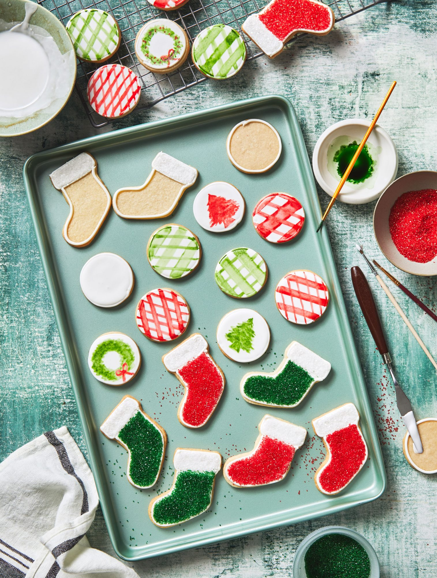 Painted Shortbread Cookies