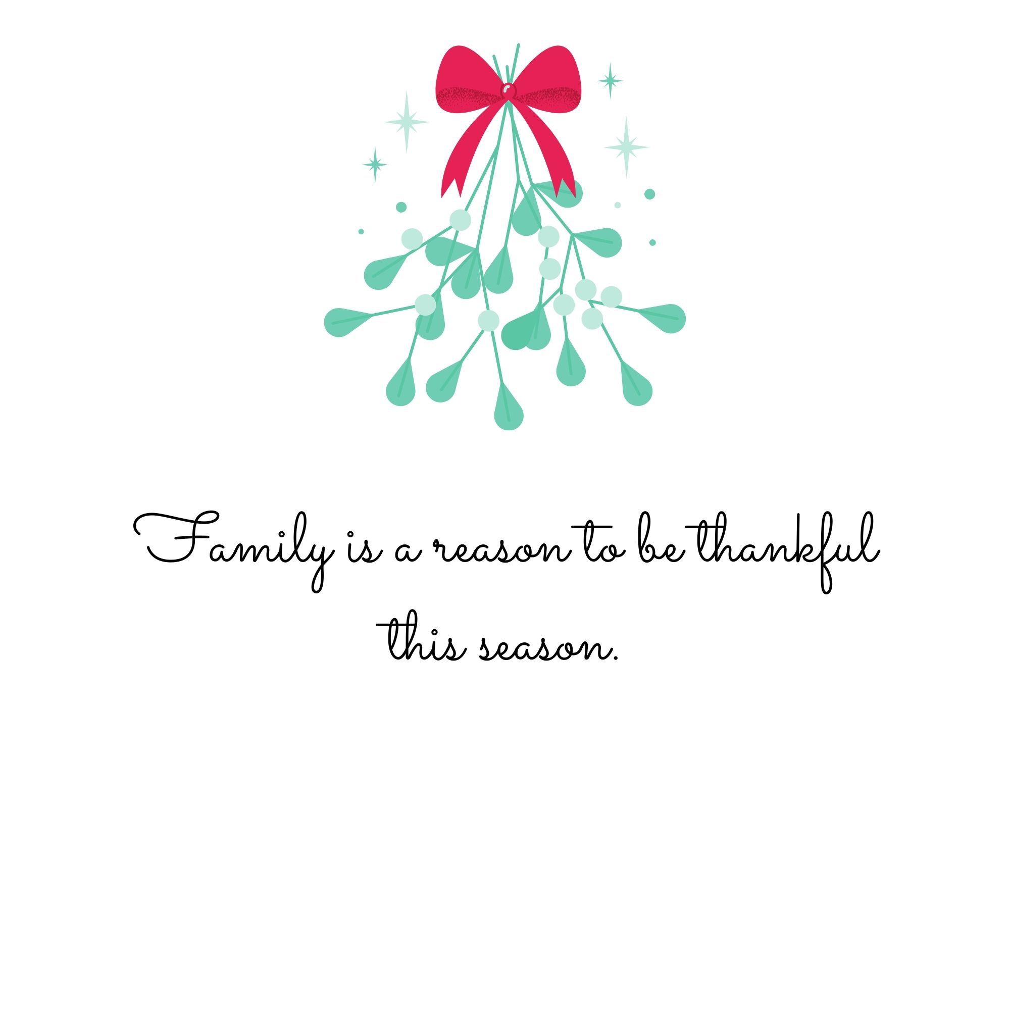 Family is a reason to be thankful this season.