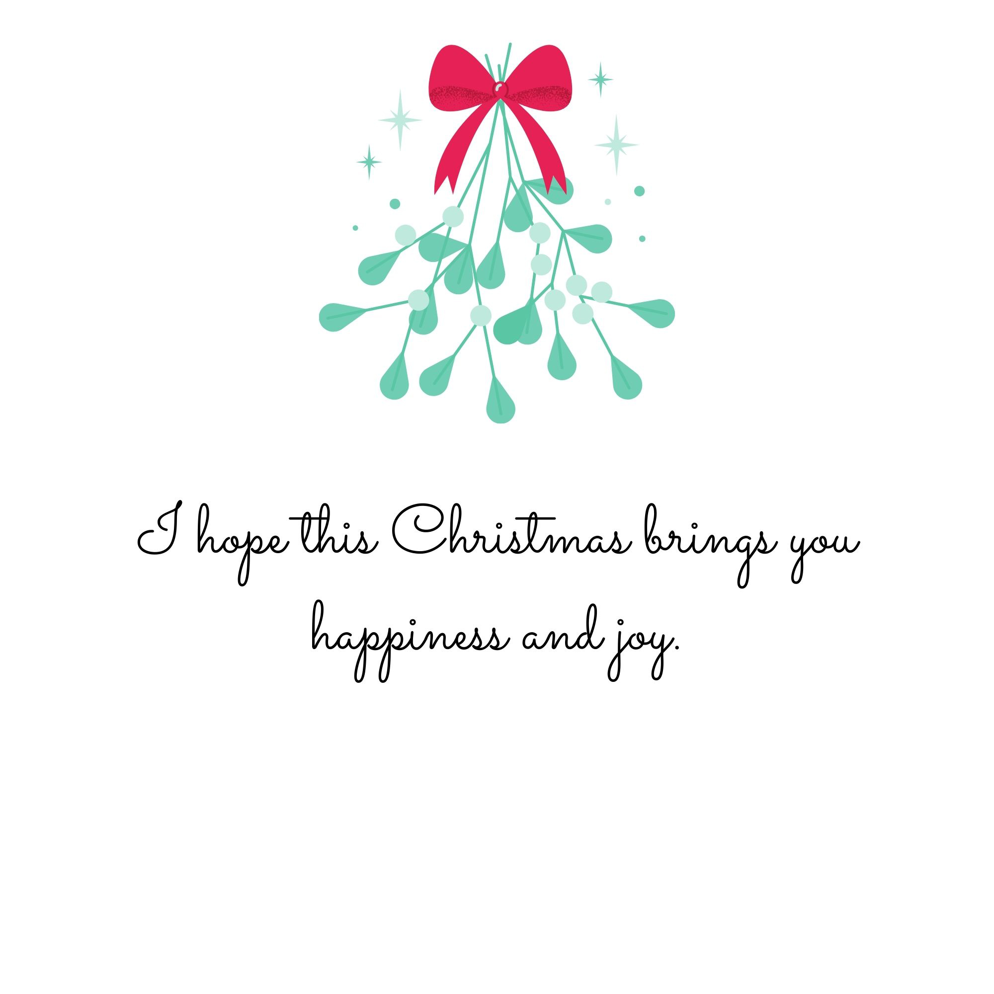 I Hope This Christmas Brings Happiness and Joy