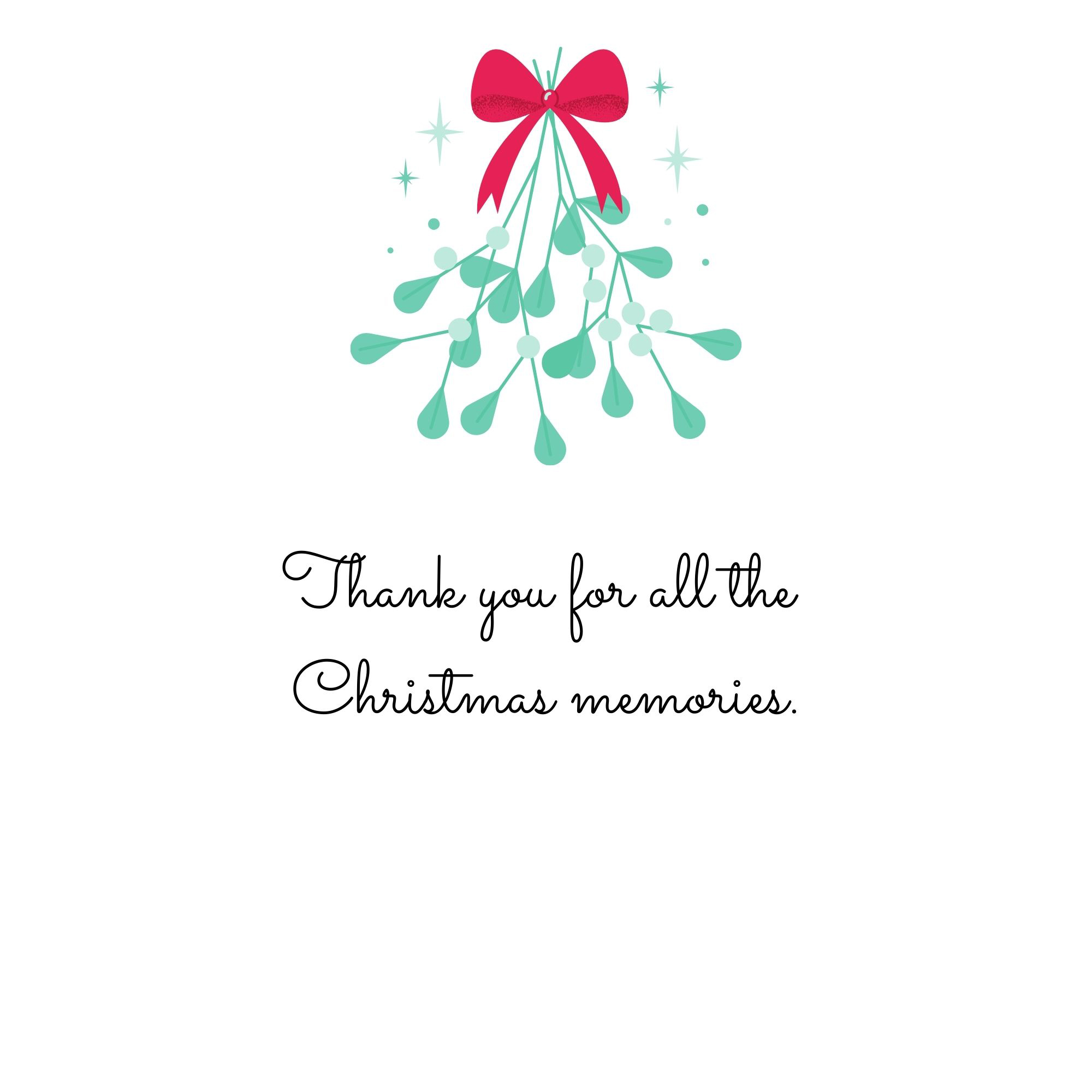 Thank you for all the Christmas memories.