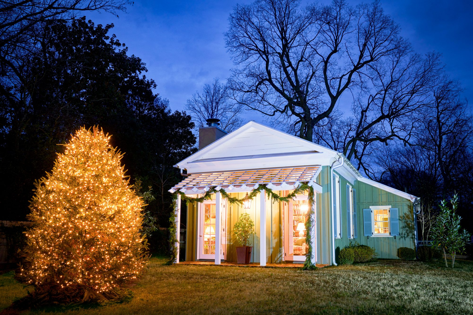Julia Reed's Delta Folly Home in Mississippi decorated for Christmas