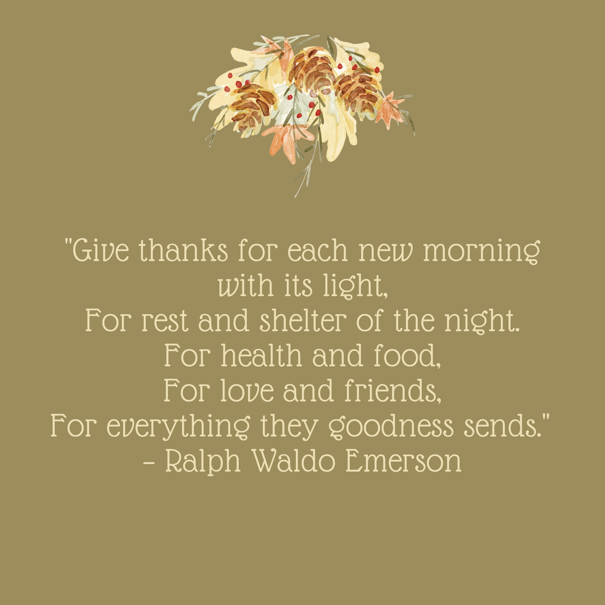 Give Thanks for Each New Morning Thanksgiving Quote