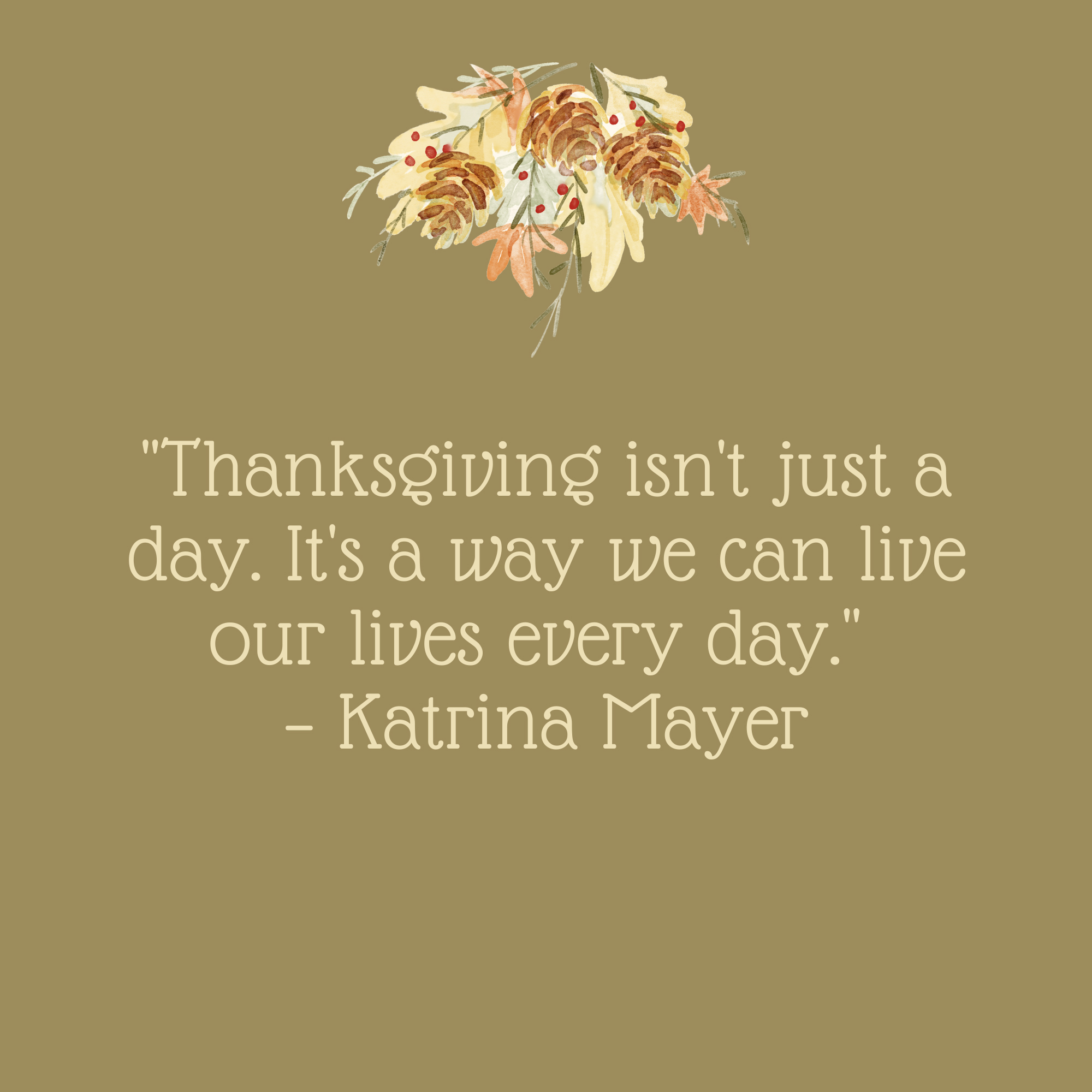 Thanksgiving Isn't Just a Day Quote