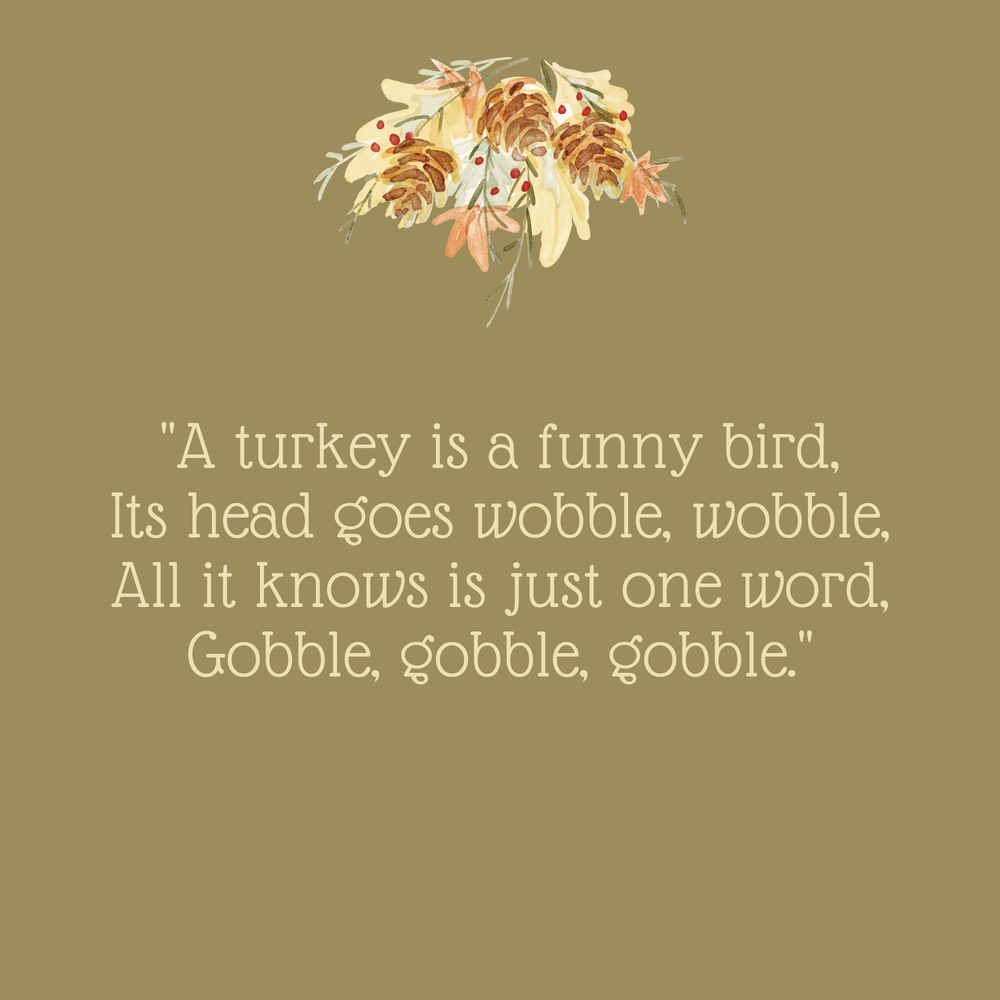 A Turkey Is a Funny Bird Thanksgiving Quote