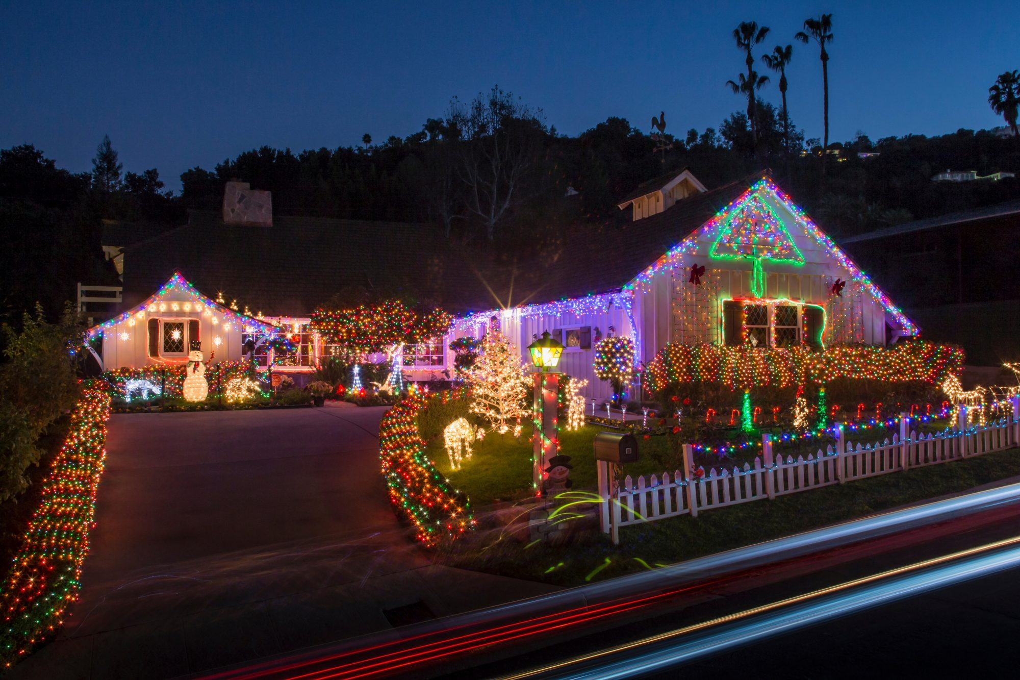 House with Exterior Christmas Lights