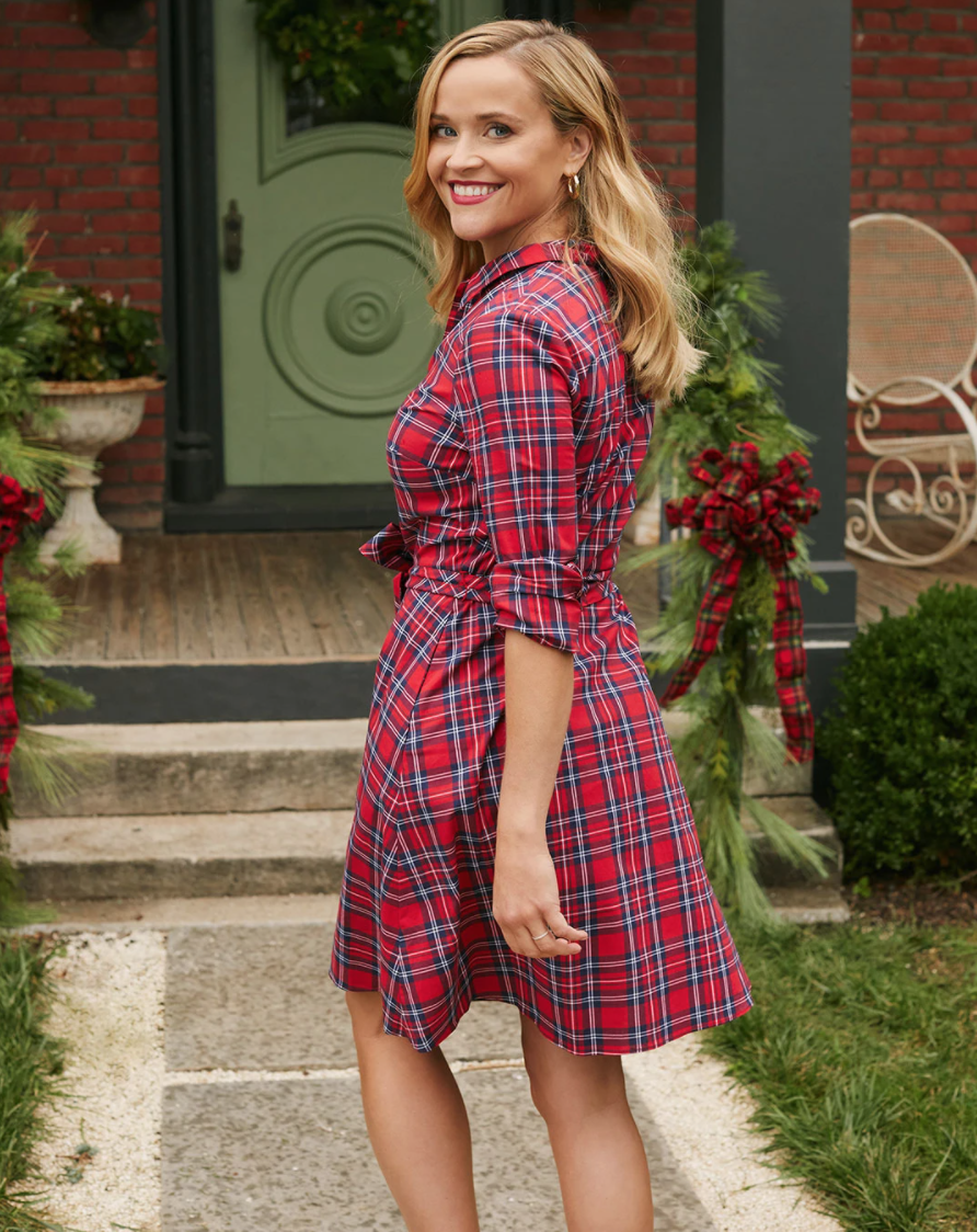 Carly Shirt Dress in Angie Plaid