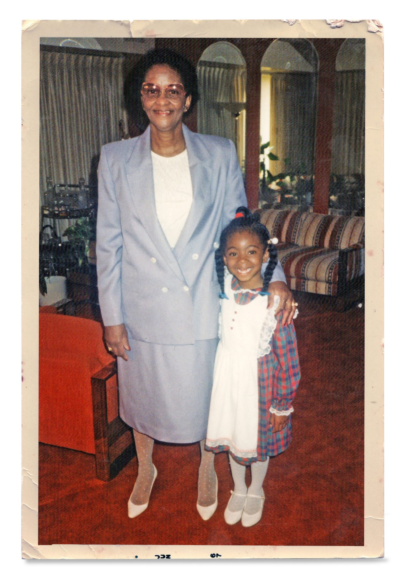 Jocelyn Delk Adams and her grandmother in about 1986