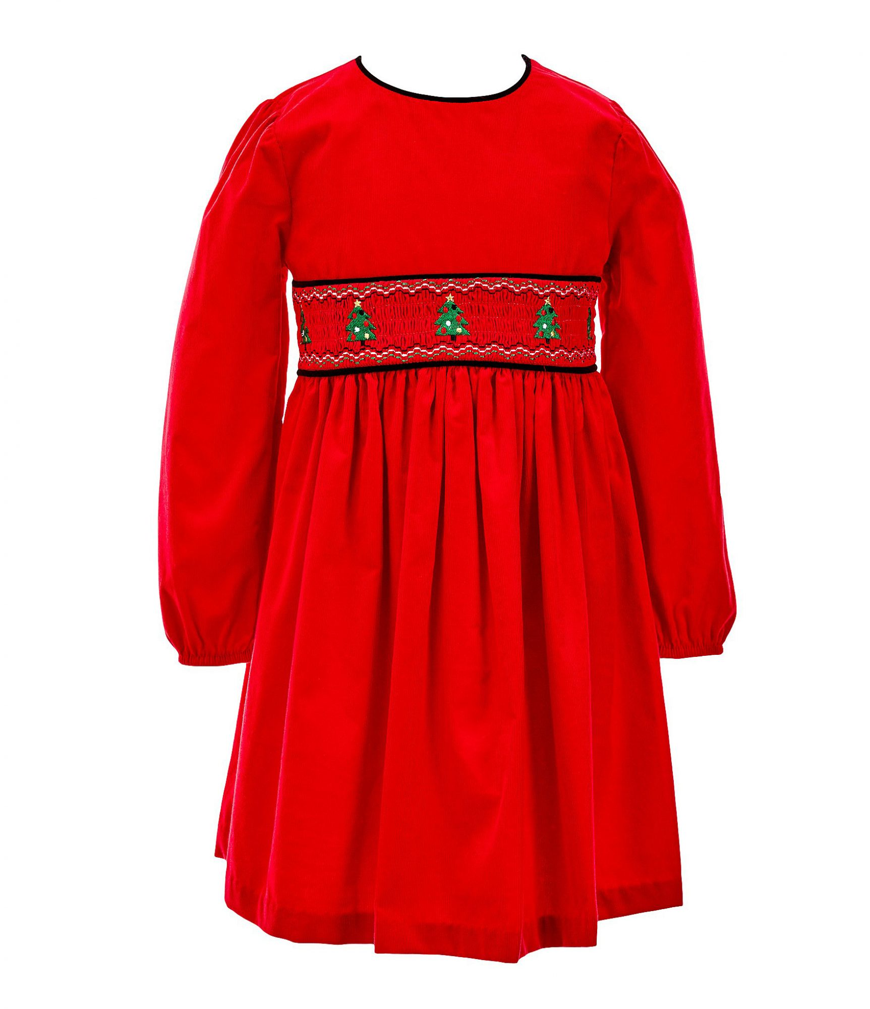 BUY: $40; dillards.com                             Subtle smocking keeps it from getting too cutesy—but still with the traditional style Southern mamas love. It's all in the details when it comes to the back's button closures and tie.