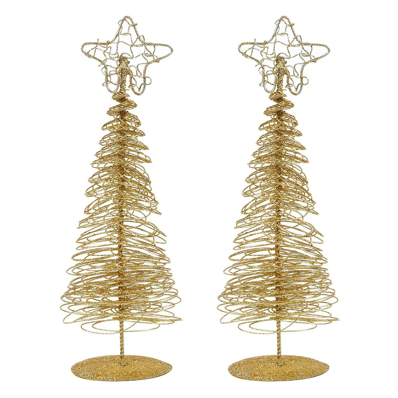 Gold Wire Mini Christmas Trees