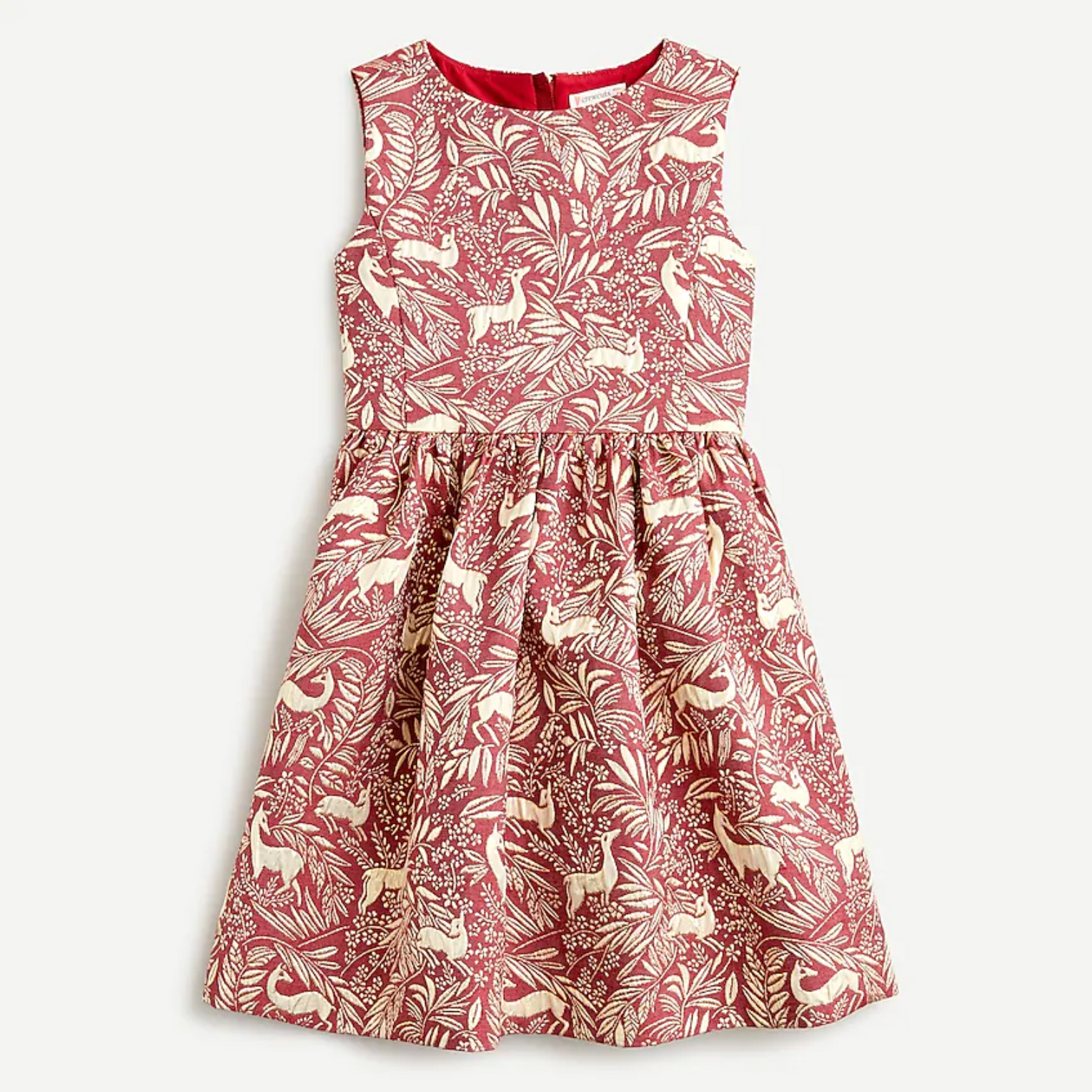 BUY: $98; jcrew.com                             By the looks of it, you'd never know this gilded print is machine washable. Let her eat all the chocolate, candy canes, and cookies her heart desires without fearing the dry clean bill.