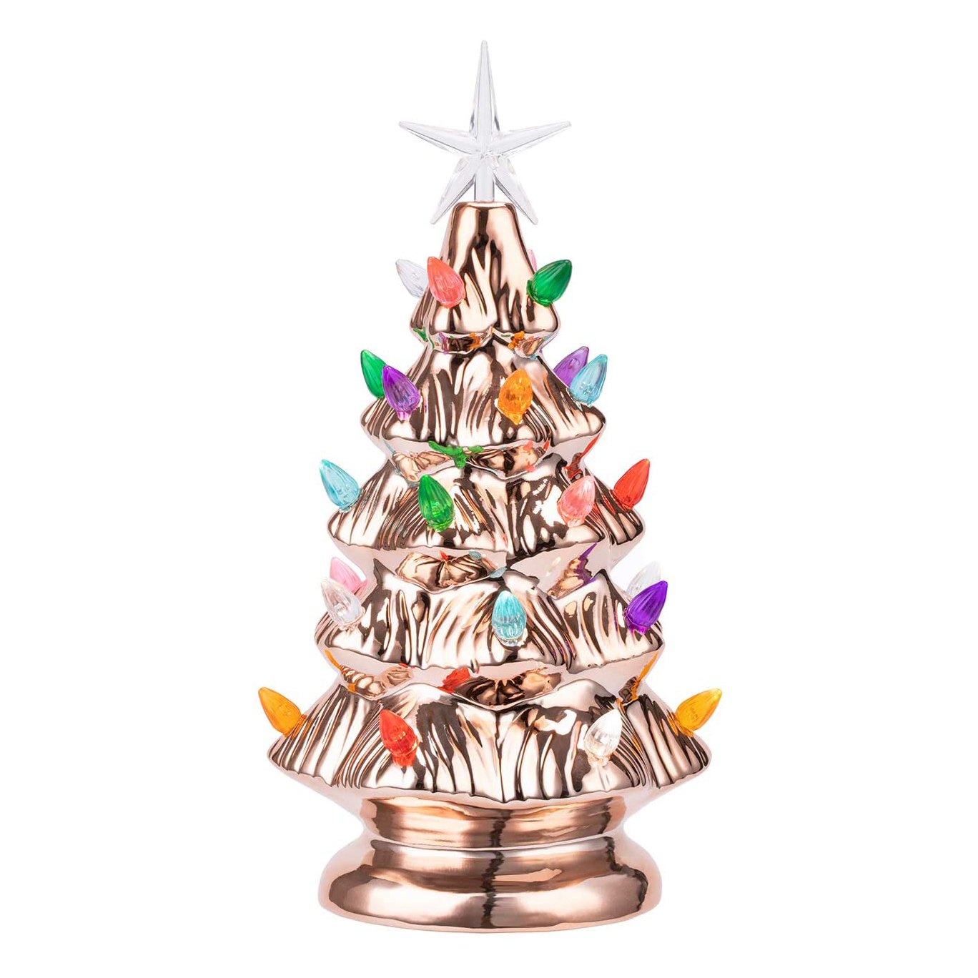 Rose Gold Tabletop Ceramic Christmas Tree