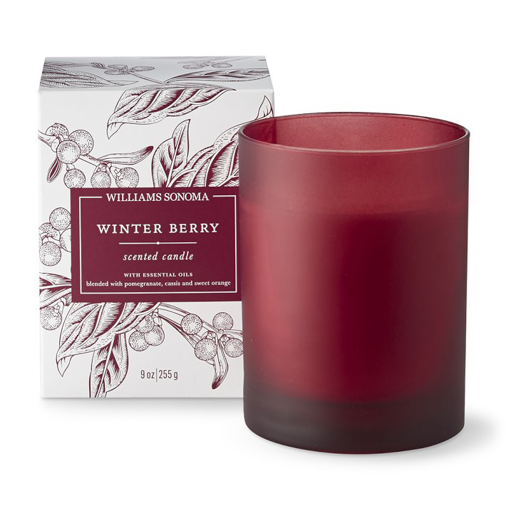 Williams Sonoma Winter Berry Candle