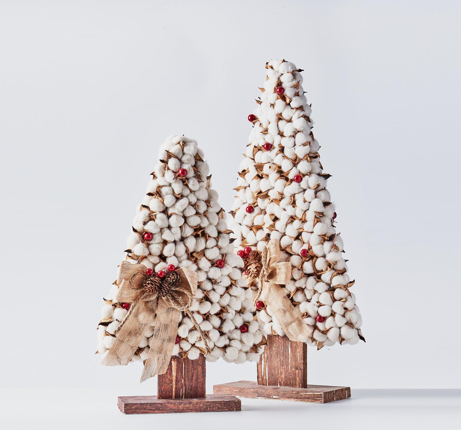 Hand-Crafted Cotton Tabletop Trees