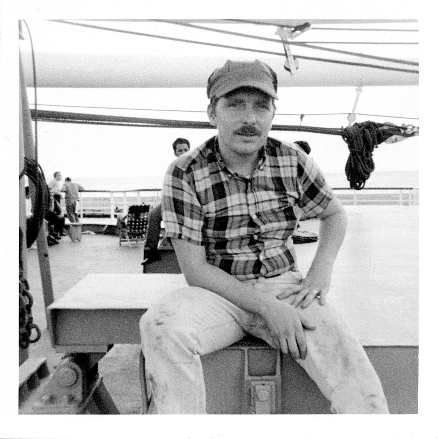 Chick Donohue on boat