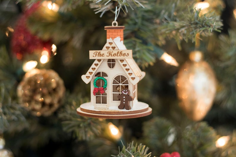 Personalized Gingerbread House Ornament