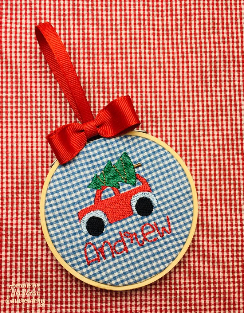 Embroidered Name Ornament