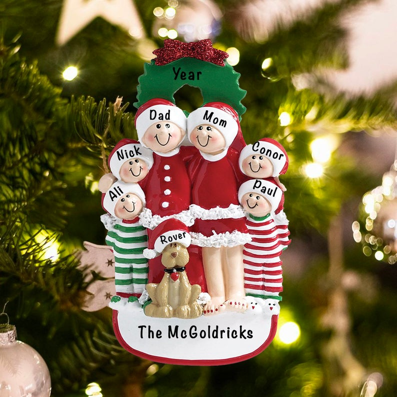 Smiling Family Personalized Ornament
