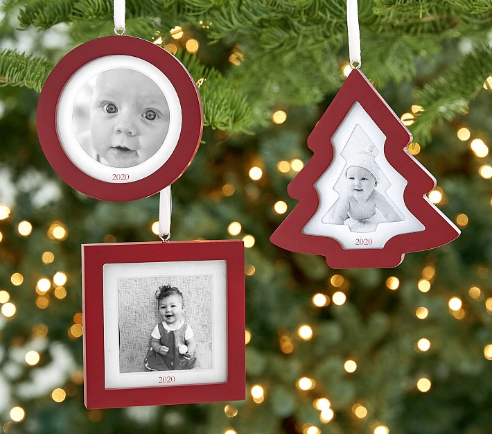 Personalized Red Frame Ornaments