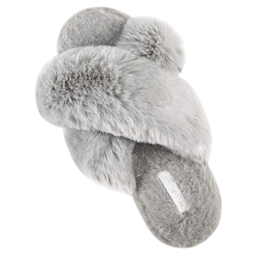 Cross Band Soft Plush Slippers