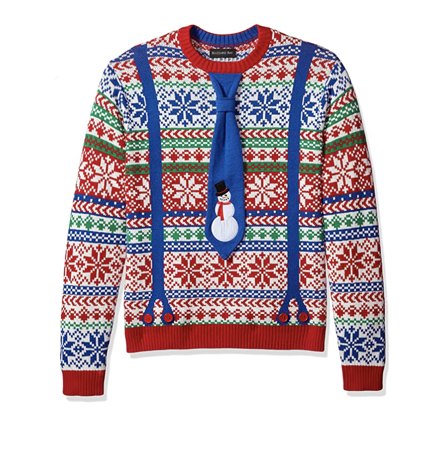 Men's Tacky Sweater with Tie
