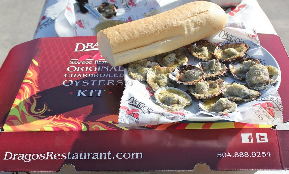 Charbroiled Oysters from Drago's Seafood Restaurant