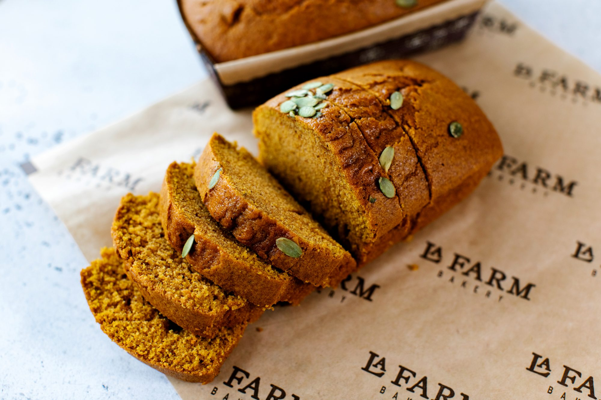 Pumpkin Bread from La Farm Bakery