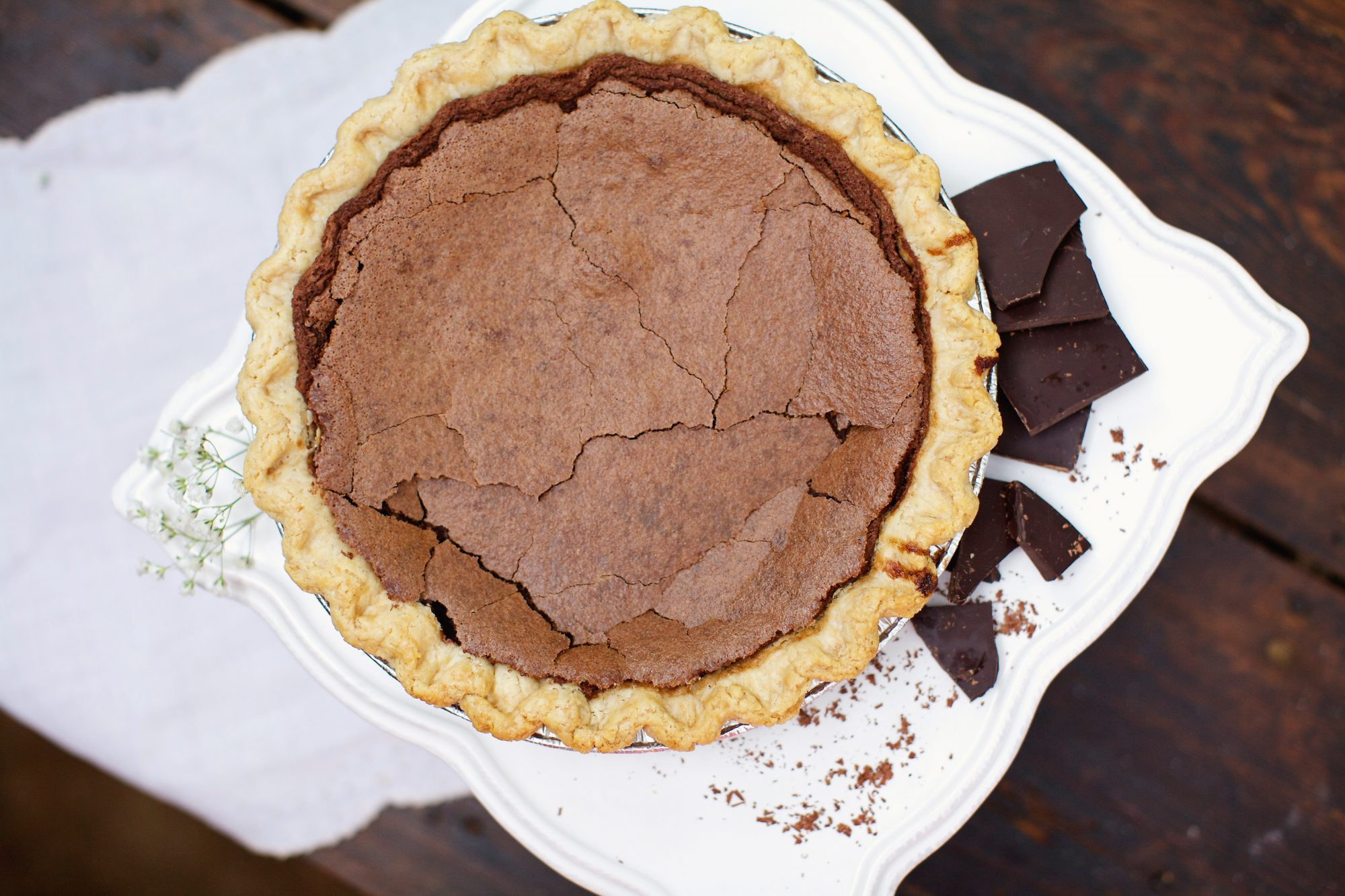 Chocolate Chess Pie from Southern Baked Pie