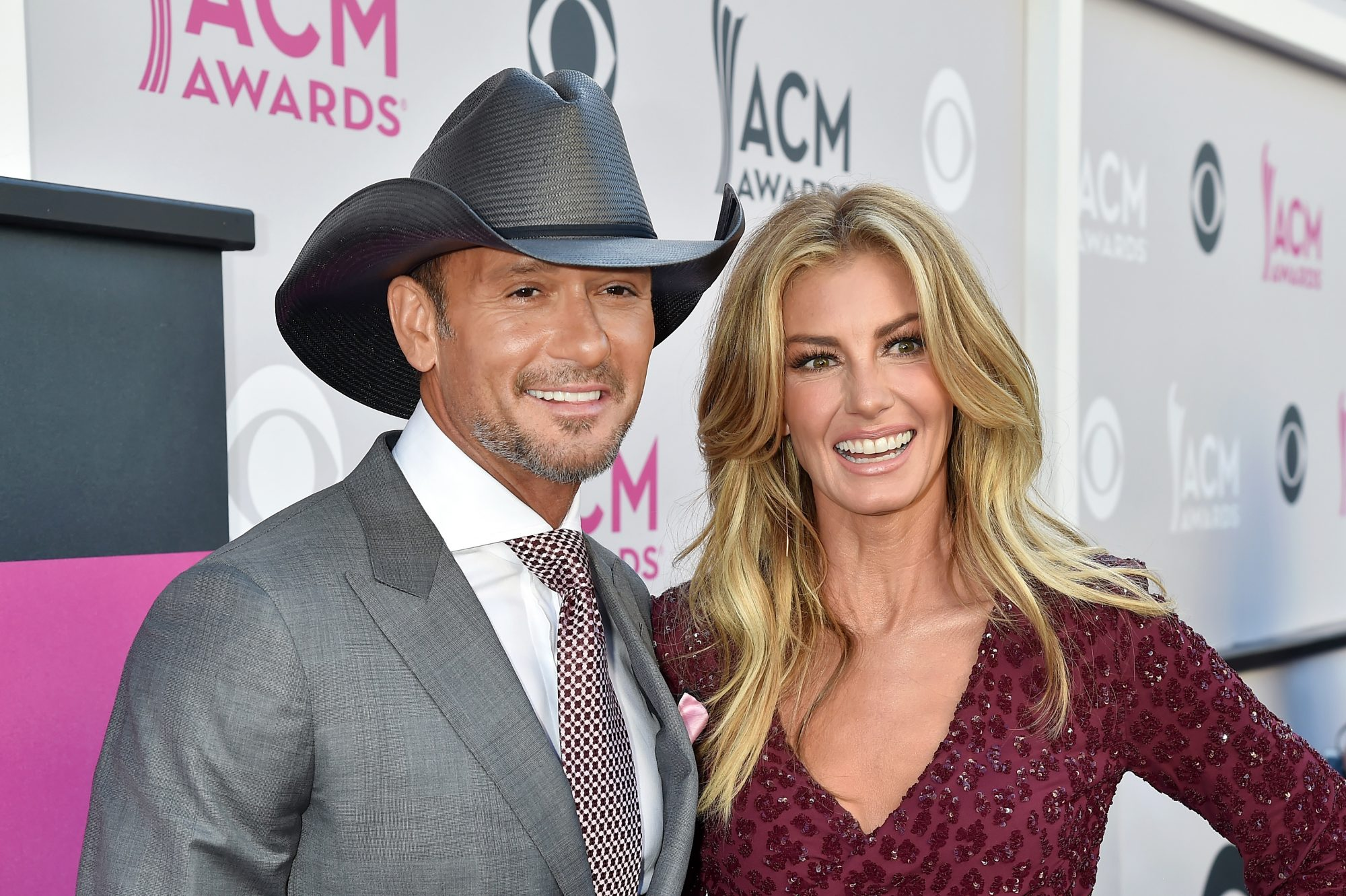 ACMs Tim McGraw and Faith Hill Red Carpet