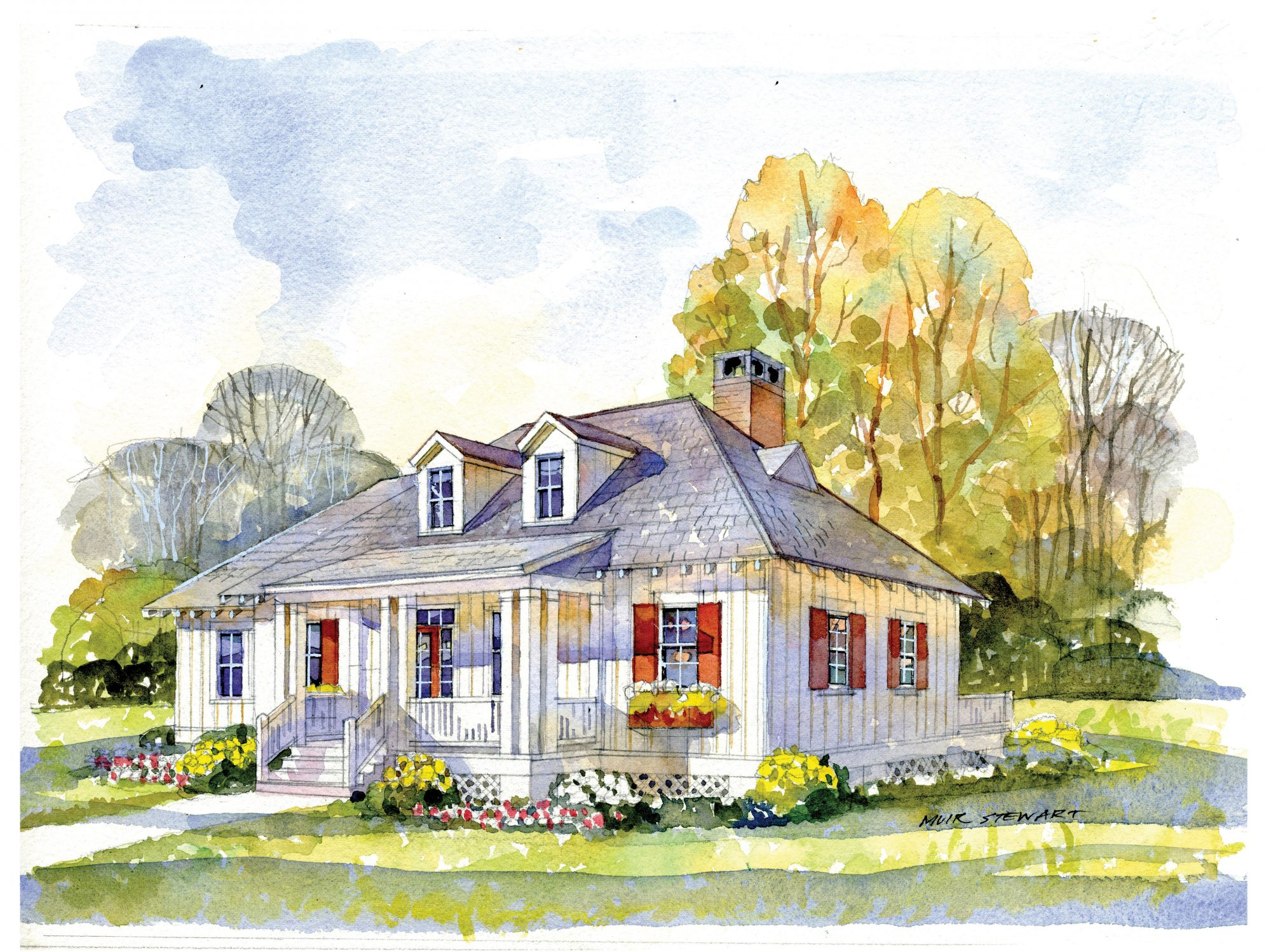 May Isle Cottage, House Plan 1905 Rendering