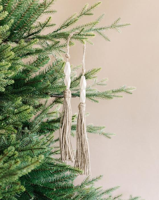 Jute and Wood Ornament