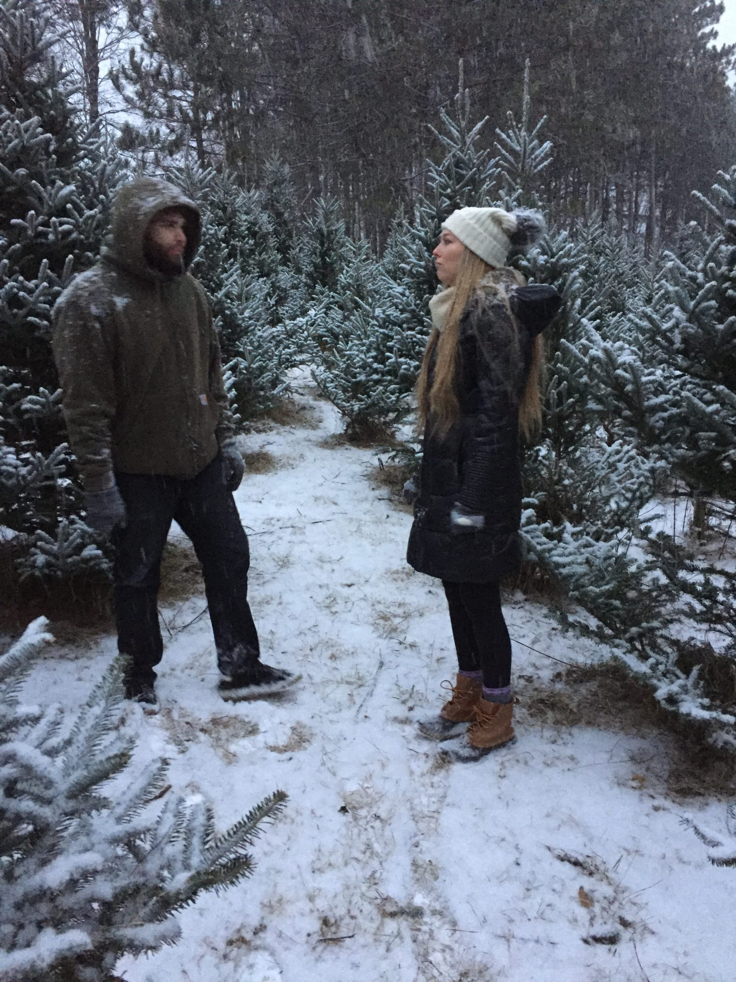 Gil and Ellie at tree farm