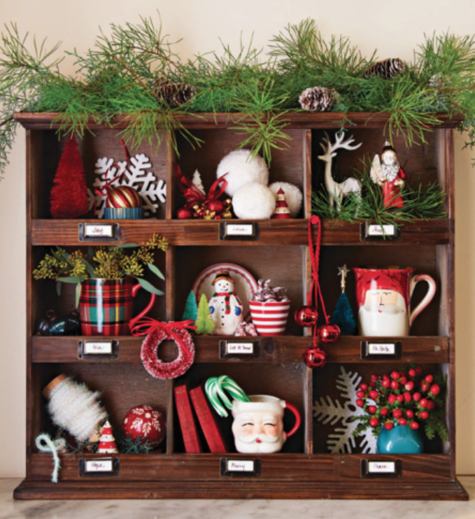 Mudroom Cubbies Display Christmas Collections