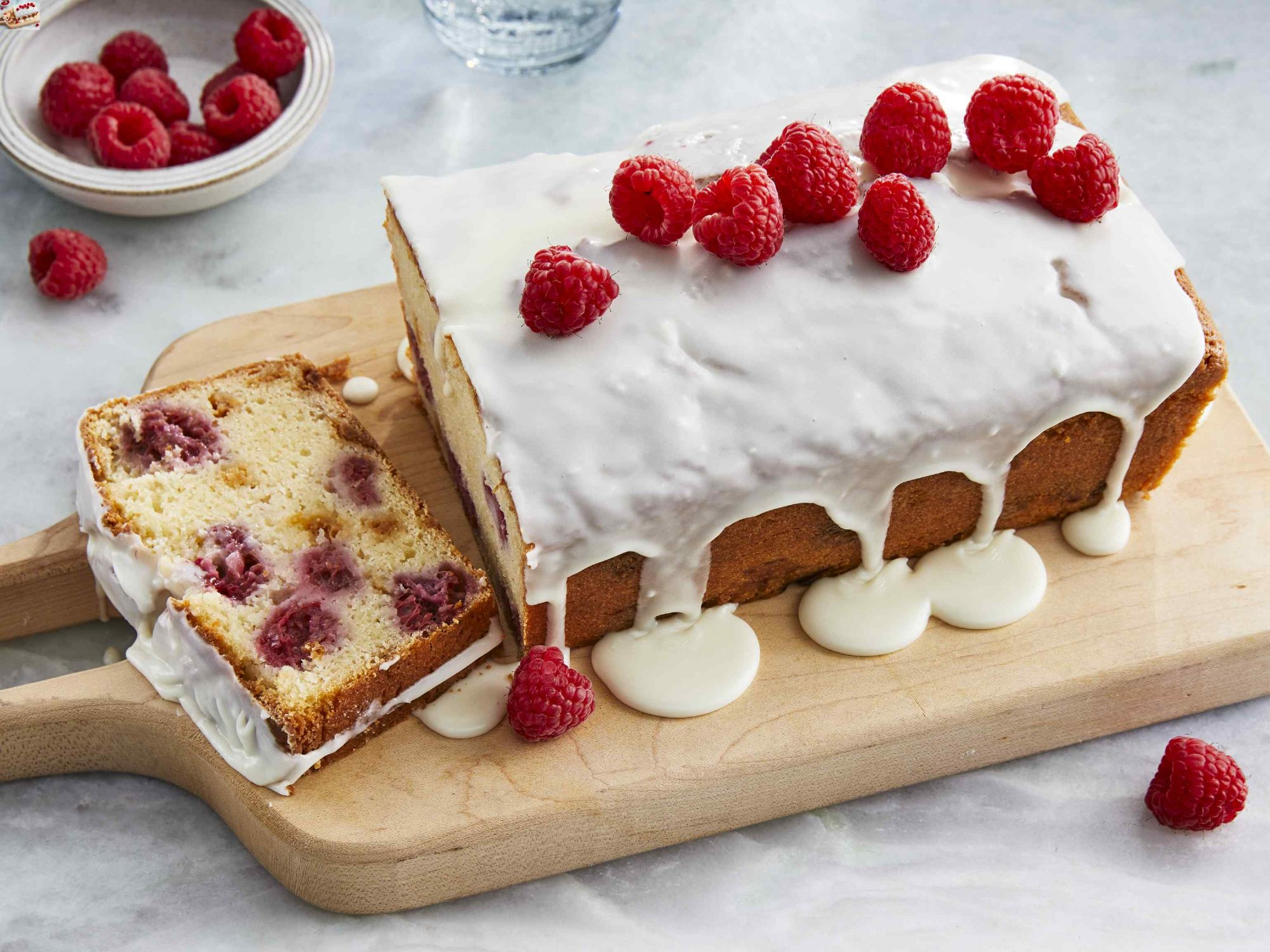 White Chocolate Raspberry Loaf Cake
