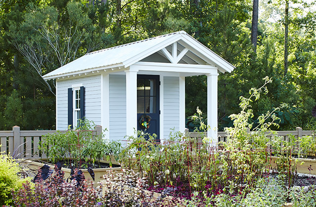 Vernacular Garden Shed Southern Living House Plan