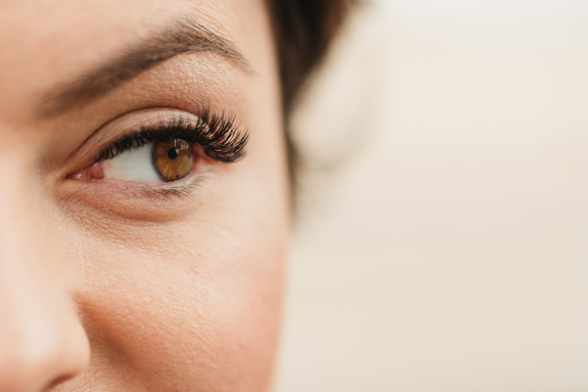 Woman with Curled Lashes