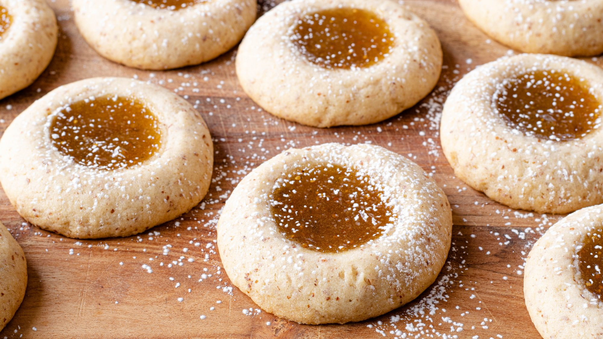 Almond Thumbprints with Fig Jam