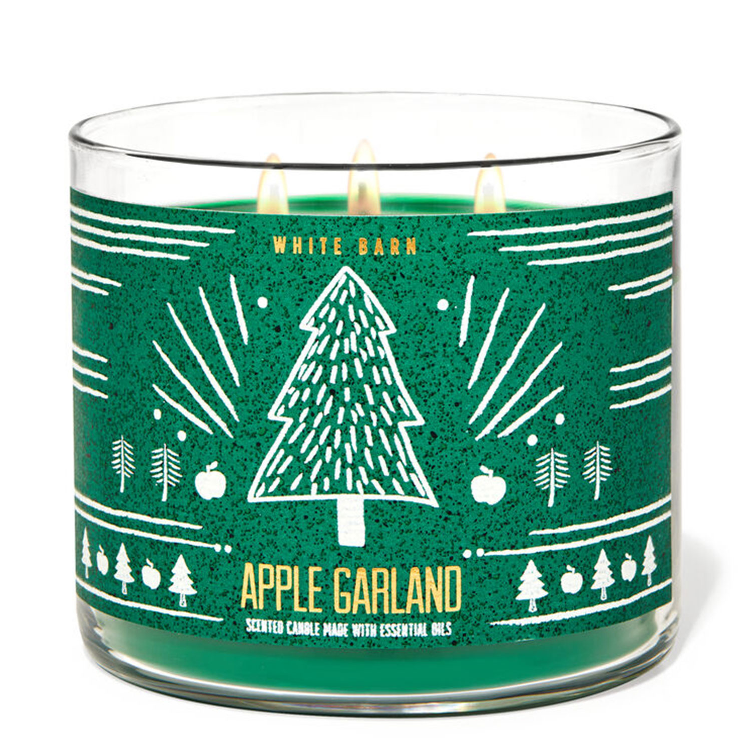 apple garland holiday candle